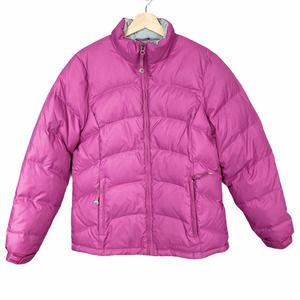 L.L. Bean PINK Down Ribbed Puffer Winter Coat